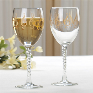 Treble Clef Wine Glass