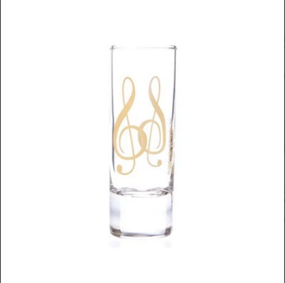 Treble Clef Shot Glass