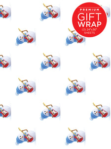 Snowman Guitarist Wrapping Paper