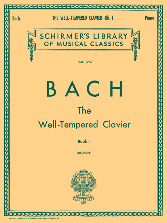 Bach, J.S. The Well-Tempered Clavier, Book I