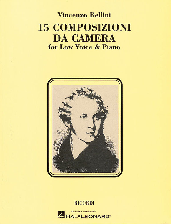 Bellini 15 Composizioni da Camera (15 Chamber Compositions) (Low Voice)