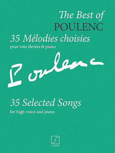 Poulenc 35 Selected Songs (High Voice)