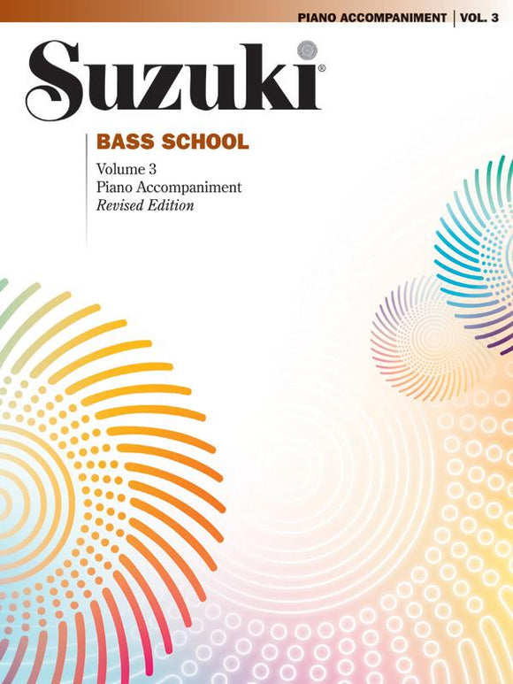 Suzuki Bass School: Piano Accompaniment, Volume 03 (Revised Edition)