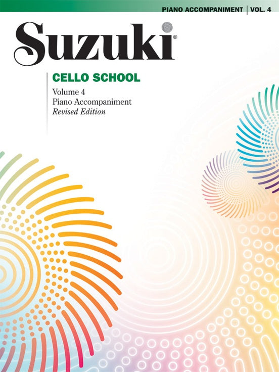 Suzuki Cello School: Piano Accompaniment, Volume 04 (Revised Edition)