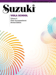 Suzuki Viola School: Piano Accompaniment, Volume 06 (Revised Edition)