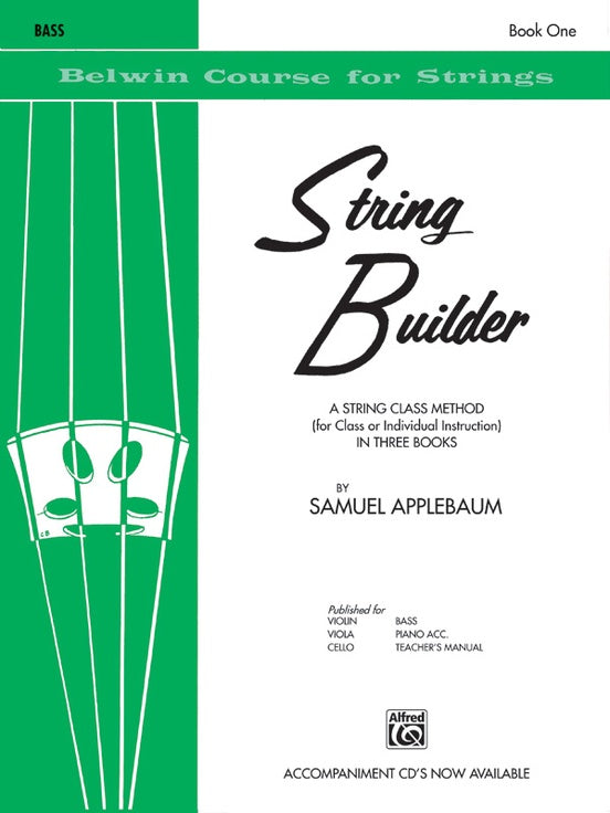 Belwin Course for Strings, String Builder: Bass, Book 1
