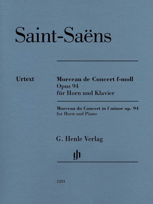 Saint-Saëns Morceau de Concert in F Minor, Op. 94 (Horn & Piano)