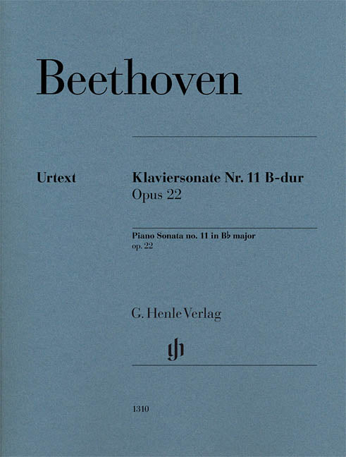 Beethoven Piano Sonata No. 11 in B-Flat Major, Op. 22