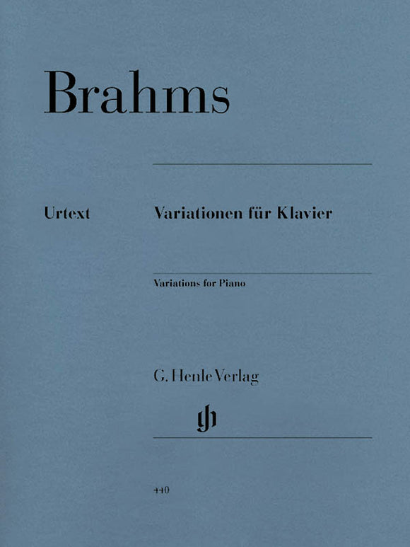Brahms Variations for Piano