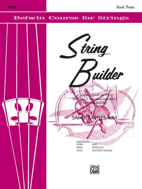 Belwin Course for Strings, String Builder: Viola, Book 3