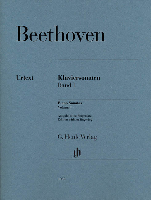 Beethoven Piano Sonatas, Volume I (Edition without Fingering)