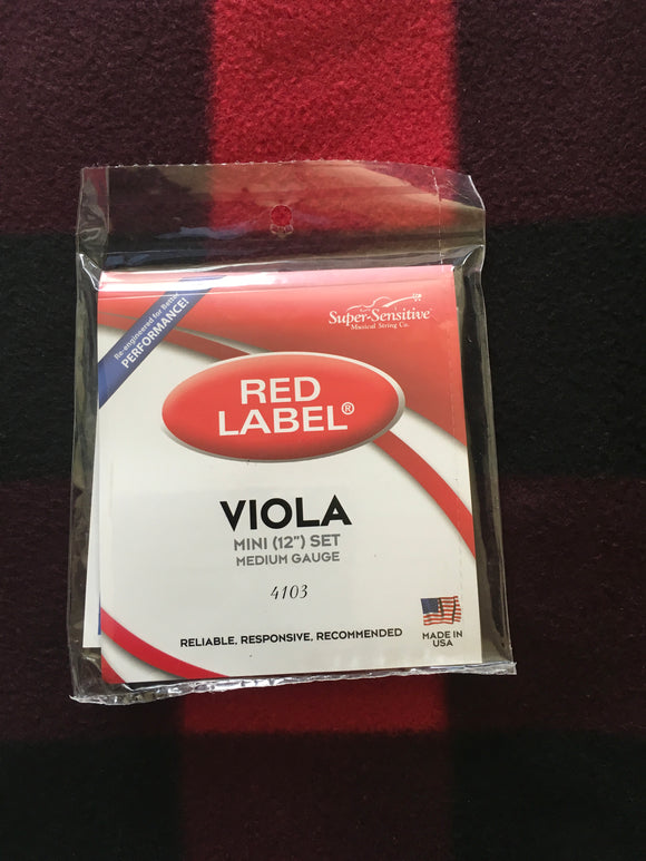 Super-Sensitive Red Label Viola String Set