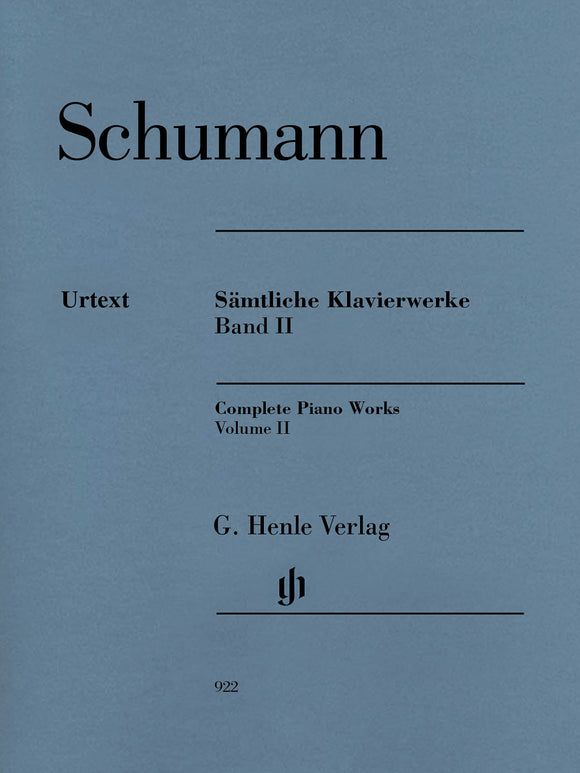 Schumann Complete Piano Works, Volume II