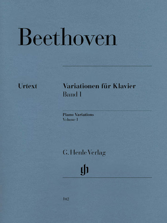 Beethoven Piano Variations, Volume I
