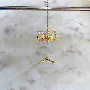 Music Stand Ornament (Gold)