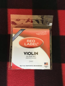 Super-Sensitive Red Label Violin String Set