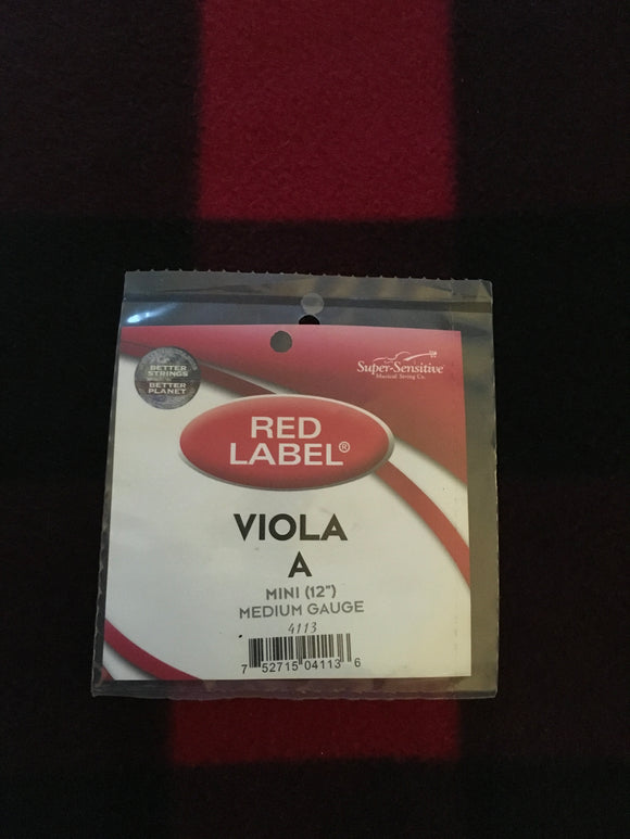 Super-Sensitive Red Label Viola String (A-String)