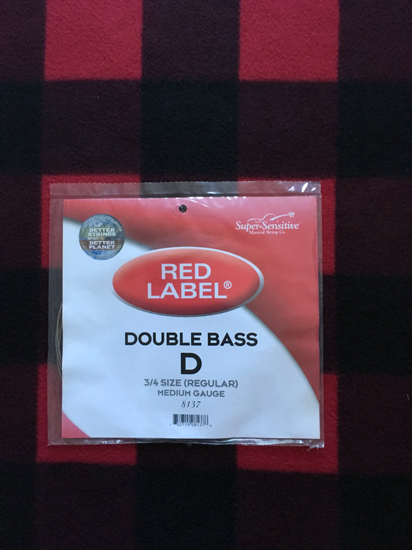 Super-Sensitive Red Label Orchestral Bass String (D-String)