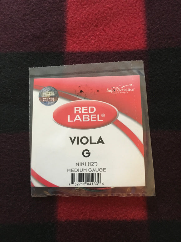Super-Sensitive Red Label Viola String (G-String)
