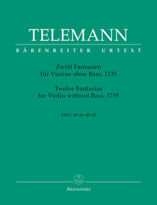 Telemann Twelve Fantasias for Violin without Bass, 1735