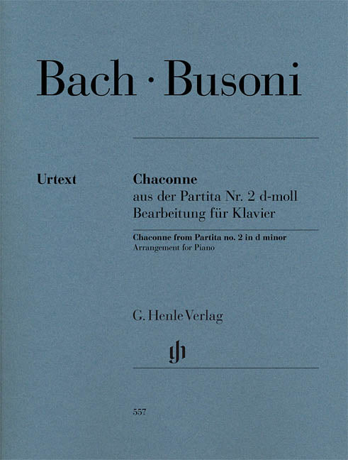 Bach Busoni Chaconne from Partita No. 2 in D Minor Arrangement for Piano