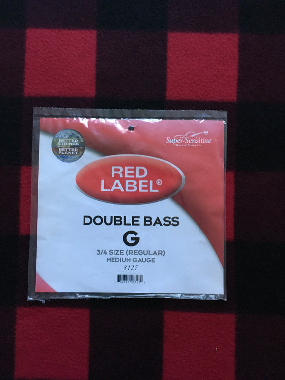 Super-Sensitive Red Label Orchestral Bass String (G-String)