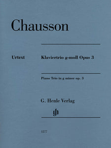Chausson Piano Trio in G Minor, Op. 3