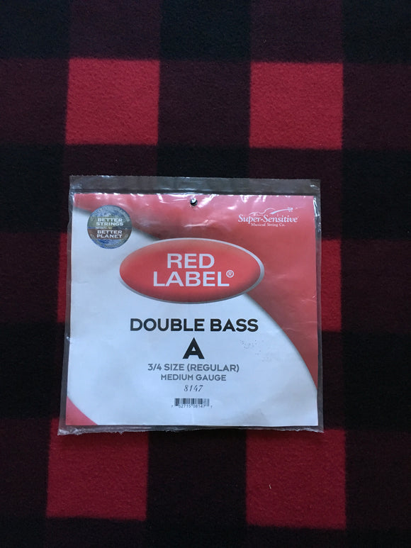 Super-Sensitive Red Label Orchestral Bass String (A-String)