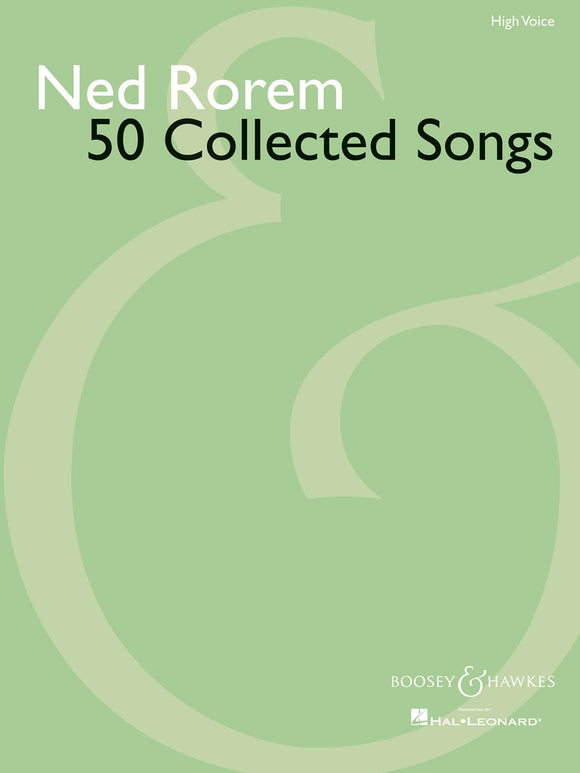 Ned Rorem 50 Collected Songs (High Voice)