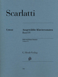 Scarlatti Selected Piano Sonatas, Volume IV