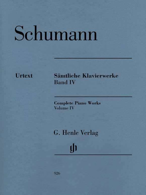 Schumann Complete Piano Works, Volume IV