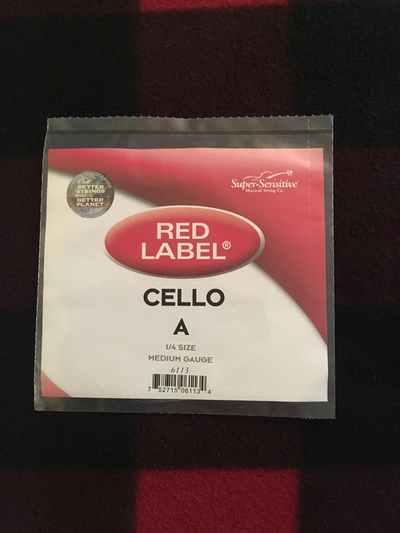 Super-Sensitive Red Label Cello String (A-String)