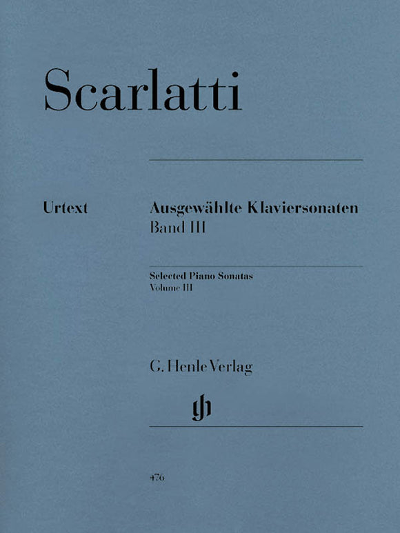 Scarlatti Selected Piano Sonatas, Volume III
