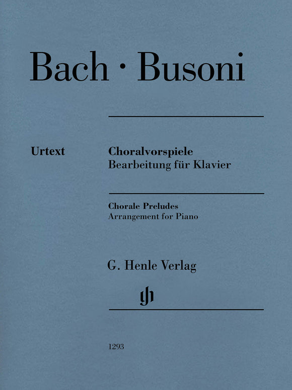 Bach Busoni Chorale Preludes Arrangement for Piano