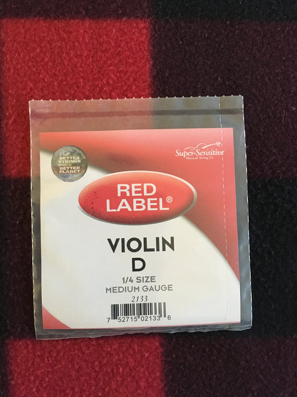 Super-Sensitive Red Label Violin String (D-String)