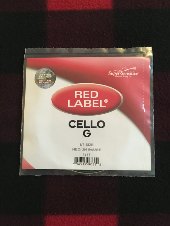 Super-Sensitive Red Label Cello String (G-String)