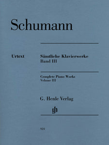 Schumann Complete Piano Works, Volume III