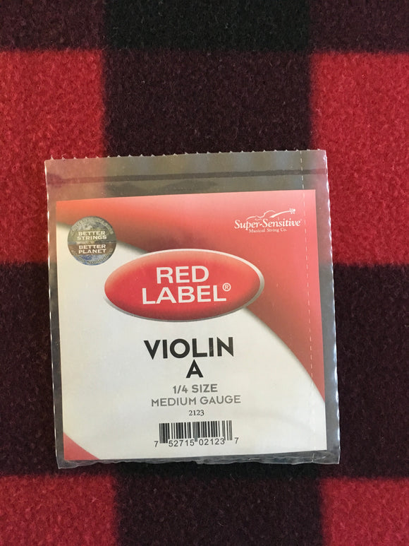 Super-Sensitive Red Label Violin String (A-String)