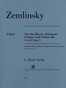 Zemlinsky Trio for Piano, Clarinet or Violin, and Cello in D Minor, Op. 3