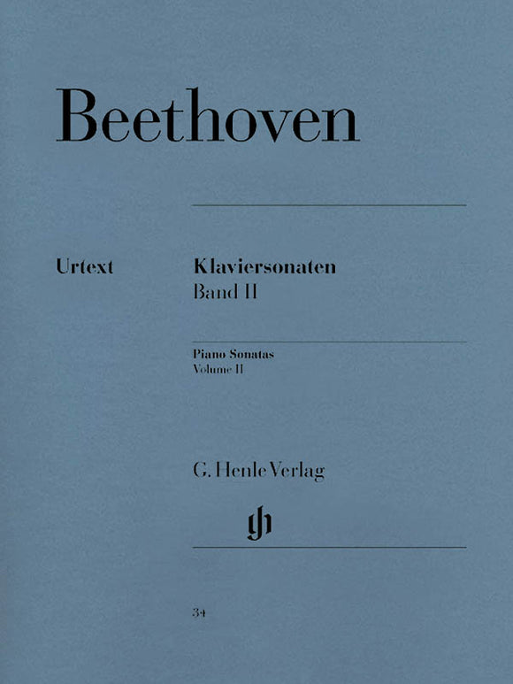 Beethoven Piano Sonatas, Volume II (Edition with Fingering)