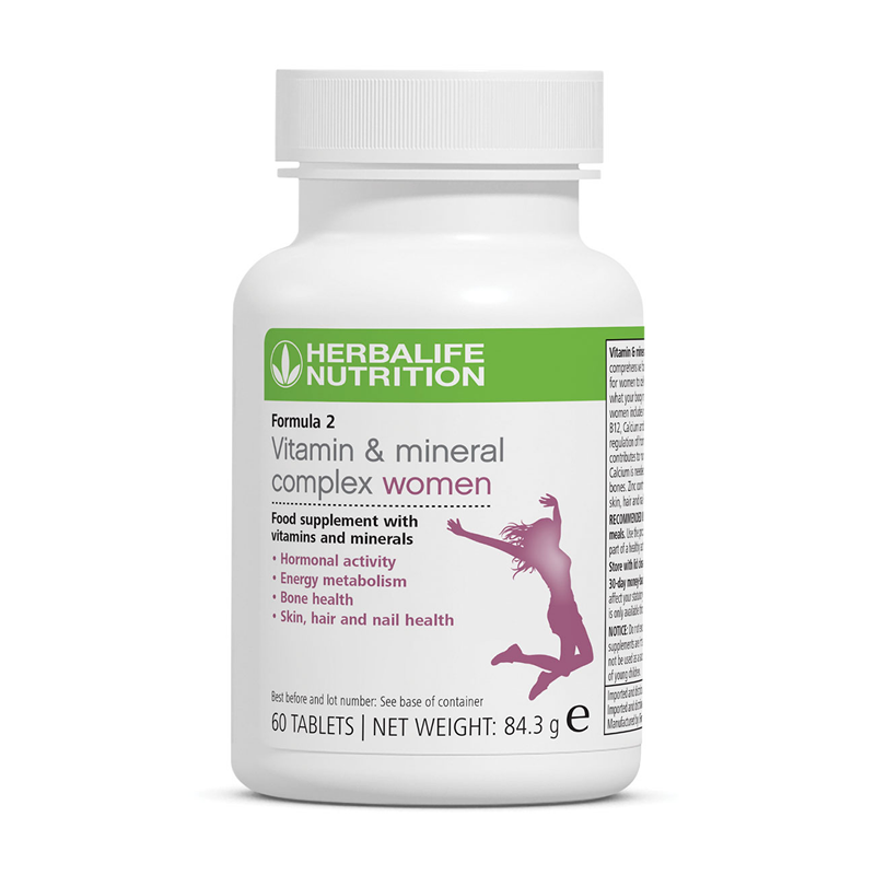 Herbalife Formula 2 - Vitamin & Mineral Complex Women's (60 tablets) - The Herba Coach