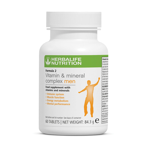 Herbalife Formula 2 - Vitamin & Mineral Complex Men's (60 tablets) - The Herba Coach