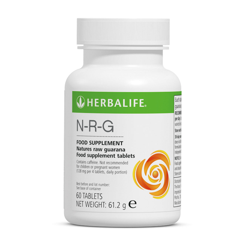 Herbalife N-R-G Nature's Raw Guarana (60 Tablets) - The Herba Coach
