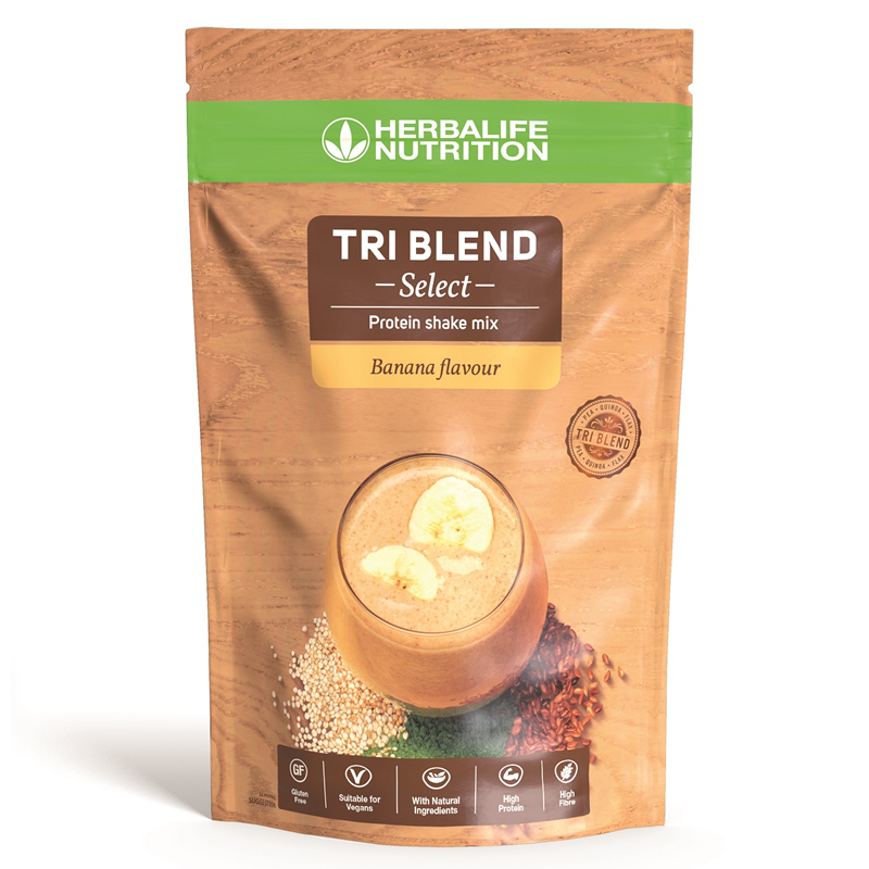 Herbalife Tri Blend Select - Protein Shake Mix Banana (600g) - The Herba Coach