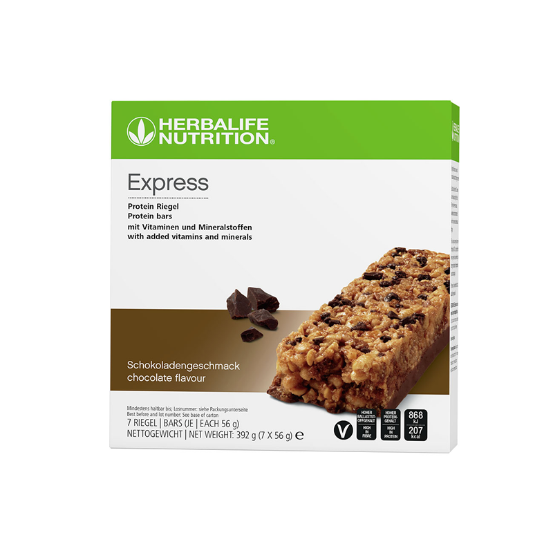 Herbalife Express Protein Bar Chocolate (7 bars per box)