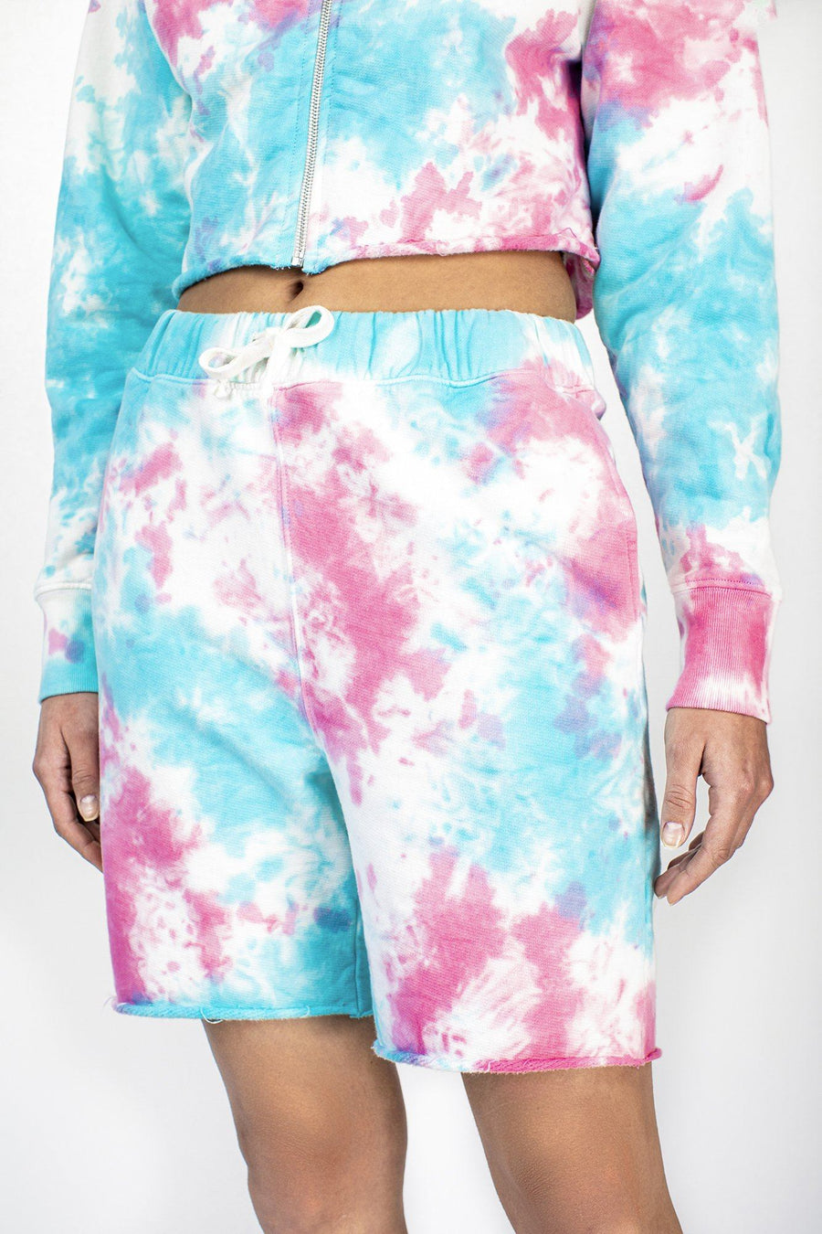 Cotton Candy Tie Dye Sweat Short