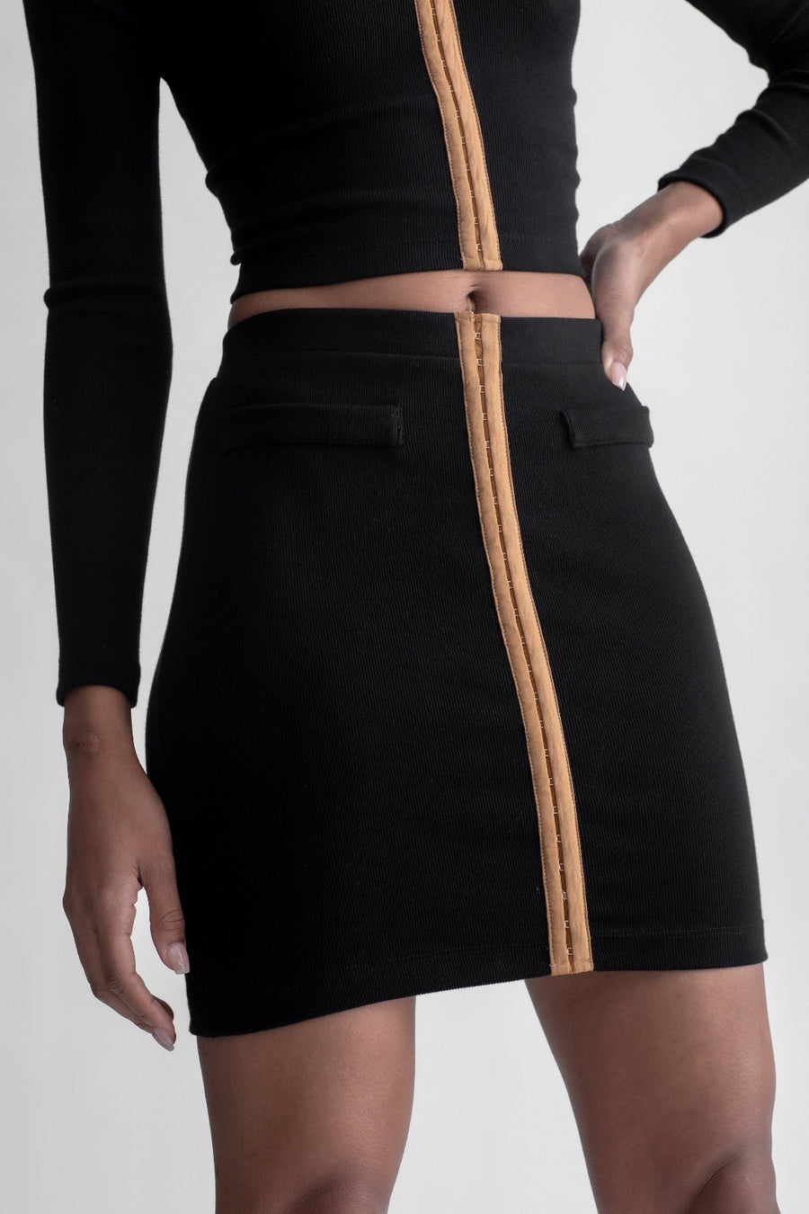 Hook & Eye Mini Skirt Black