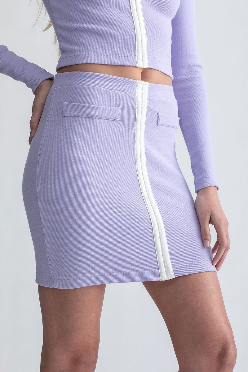 Hook & Eye Mini Skirt Mod Lilac
