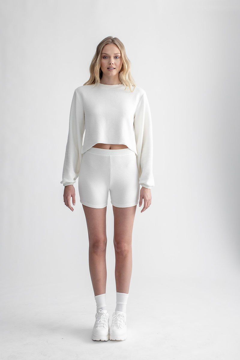 Cozy Long Sleeve Sweater Ivory