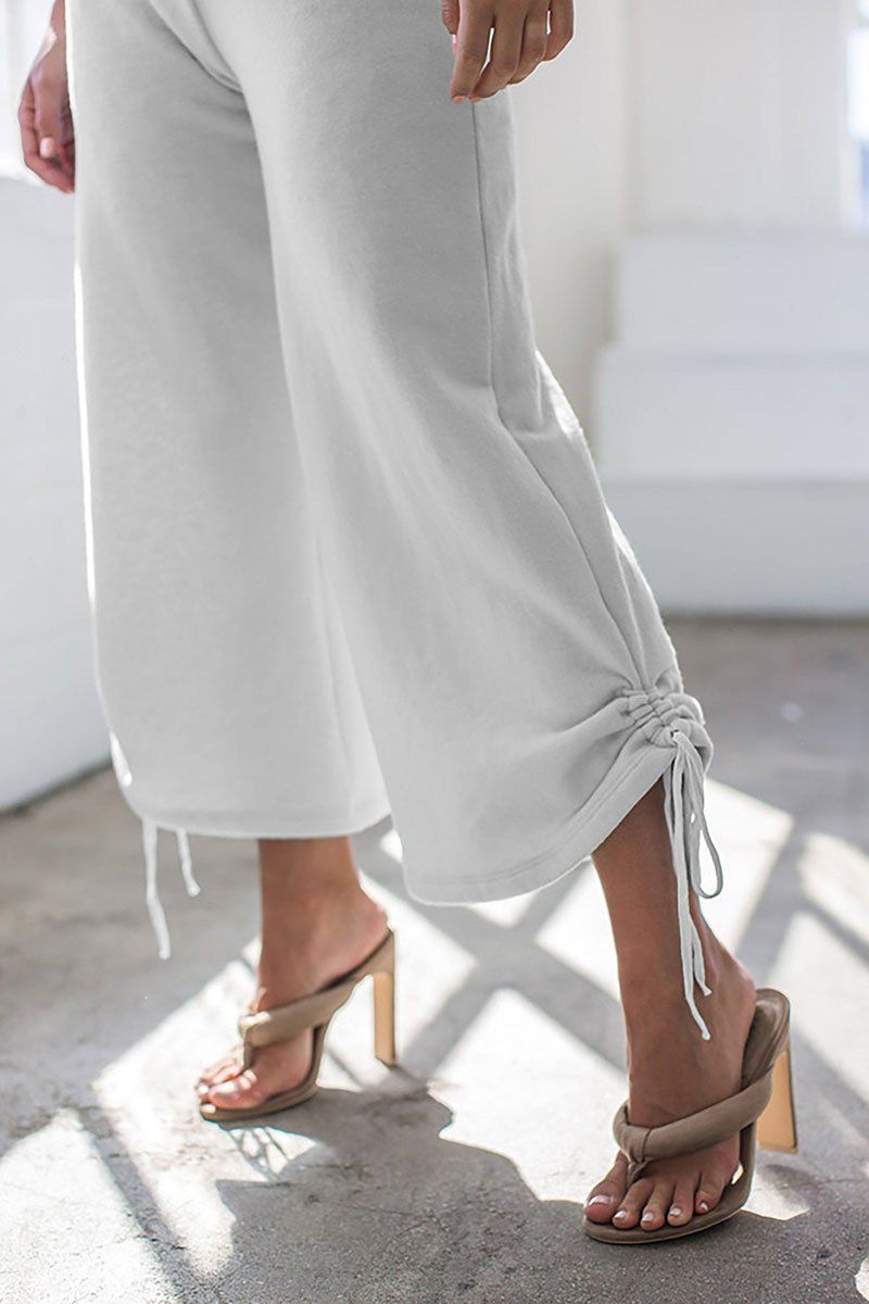 Wide Leg Ruched Lounger Pants